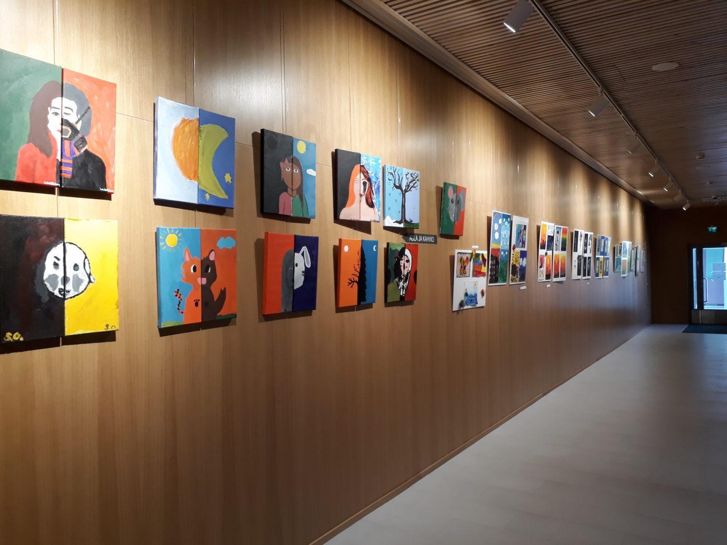 taidekerhojen Vastakohtia näyttely toukokuussa 2019