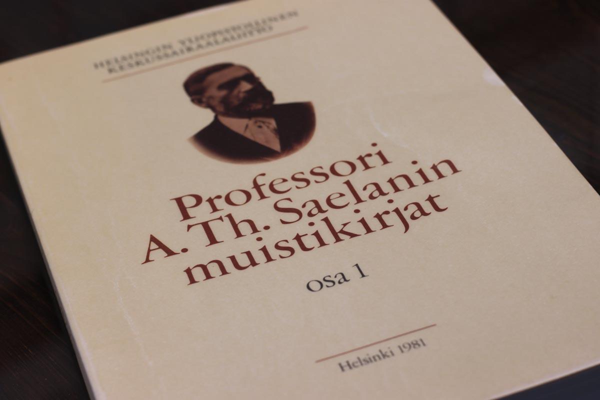 Professori A. Th. Saelanin muistikirjat