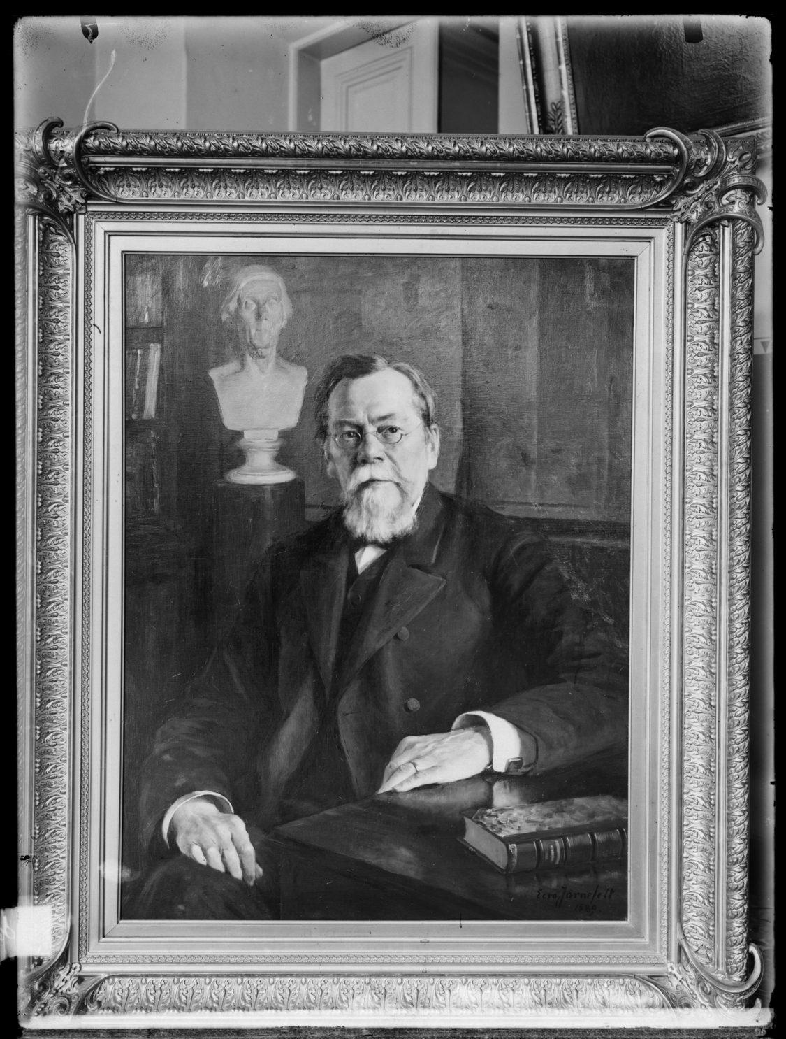 August Ahlqvist Eero Järnefeltin maalaamana, 1889.