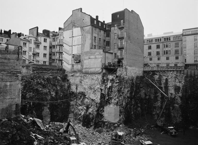 Forumin rakennustyömaa vuonna 1983.