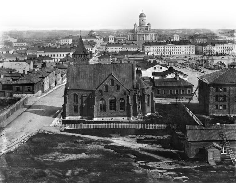 Kaartinkaupungin maisemia vuonna 1867.