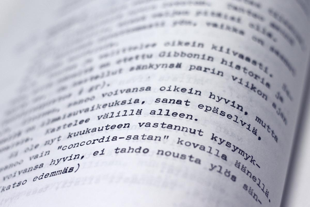 Katkelma Saelanin Aleksis Kiveä koskevista muistiinpanoista teoksessa Professori A Th. Saelanin muistikirjat,
