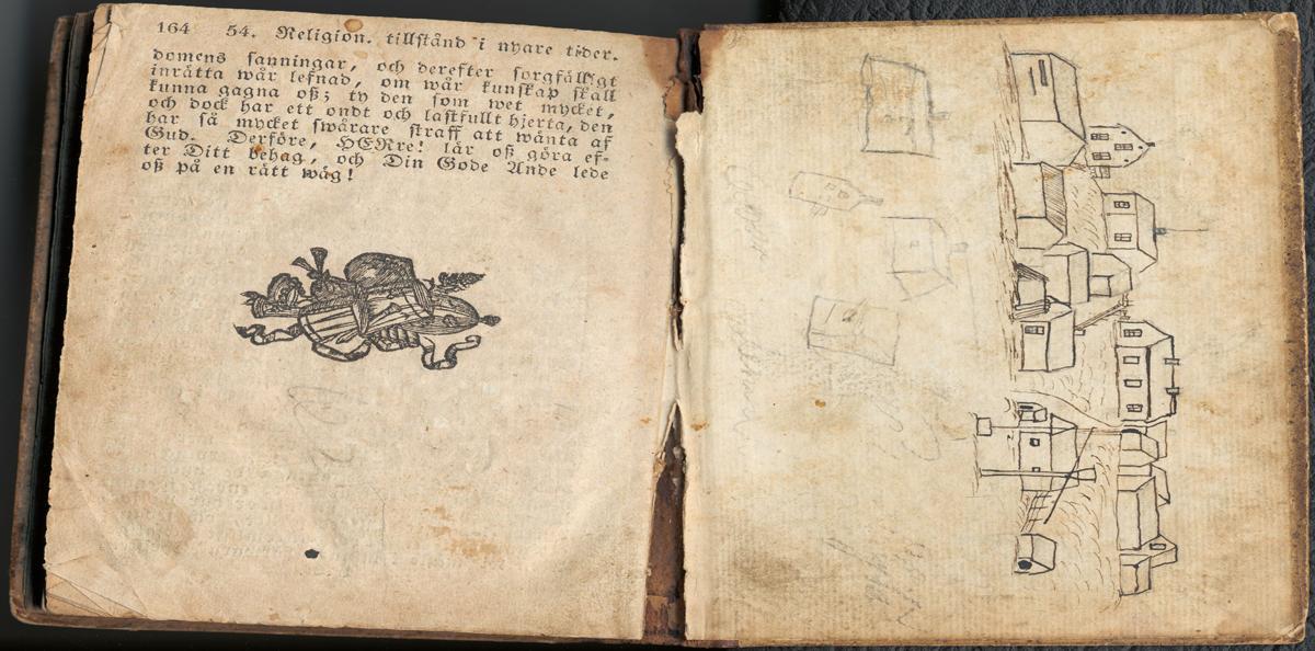Aleksis Kiven piirros Palojoesta