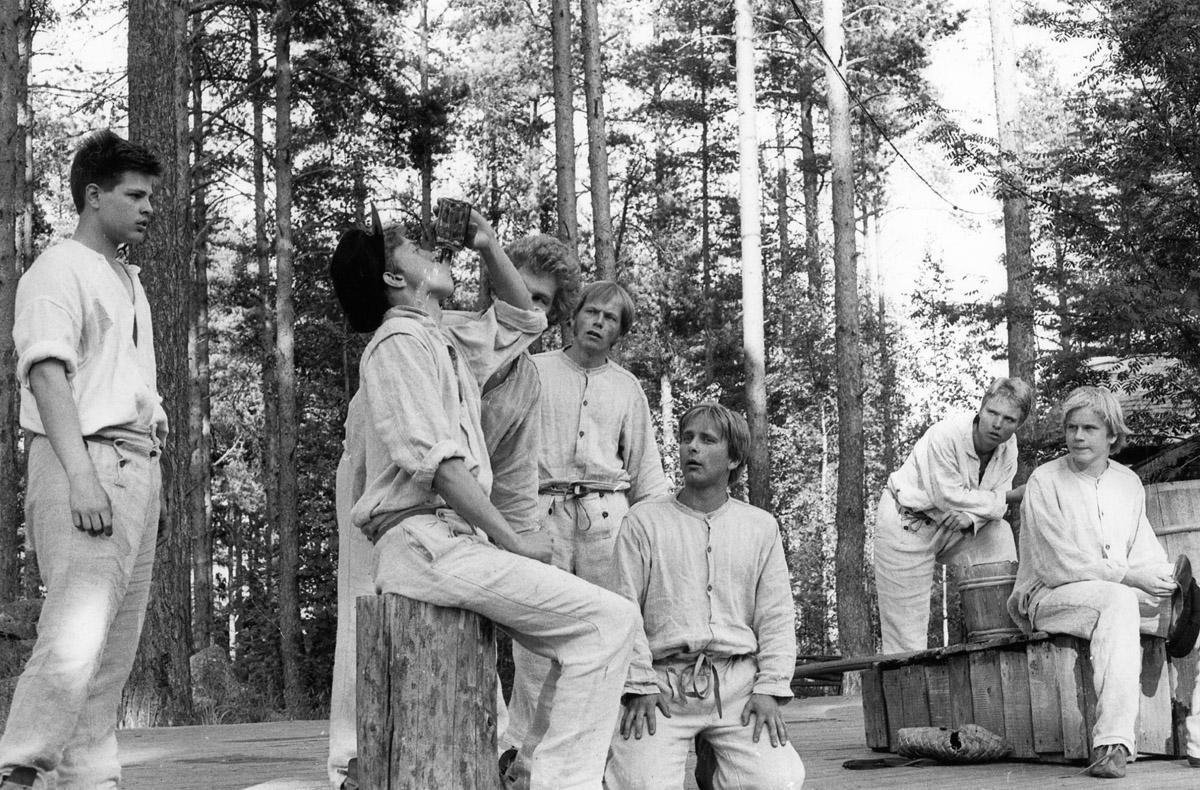Aleksis Kiven Seitsemän veljestä Taaborinvuorella Kivi-juhlilla 13.7.1980.