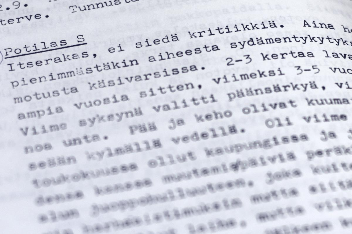 Aleksis Kiven (potilas S = Stenvall) persoonaa, mielentilaa ja oireita.