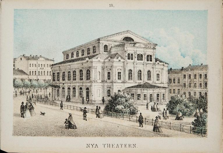 Uusi teatteri, jossa esitettiin Kiven näytelmää Lea.