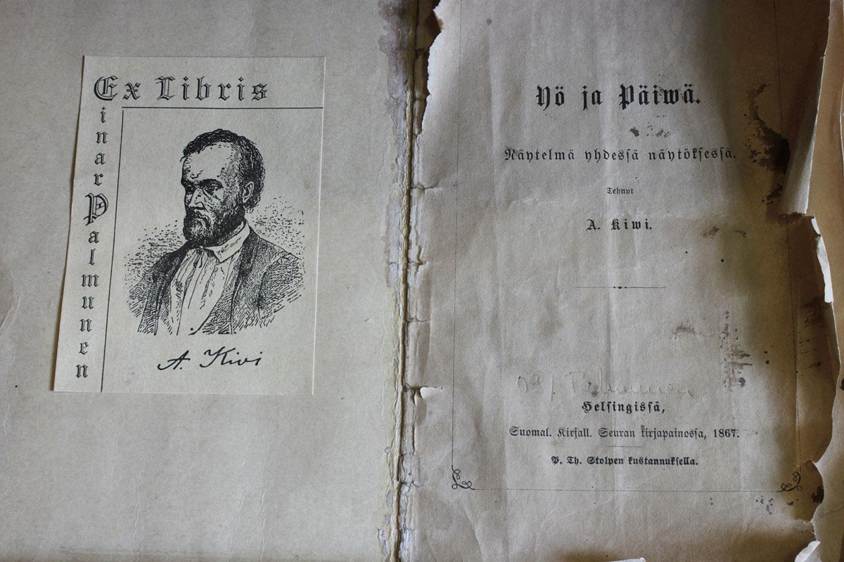 Aleksis Kivi: Yö ja päivä, ensipainos, SKS/1897.