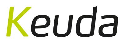 Keudan logo, joka on myös linkki yrityksen ilmastotyötä esittelevälle sivulle.
