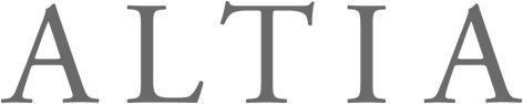 Altian logo, joka on myös linkki yrityksen ilmastotyötä esittelevälle sivulle.