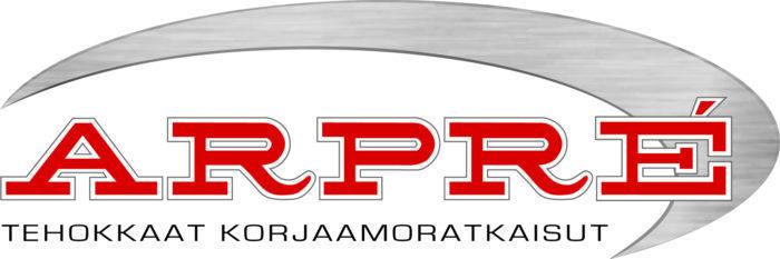 Arpré Oy:n logo, joka on myös linkki yrityksen ilmastotyötä esittelevälle sivulle.
