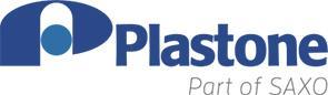 Plastone Oy:n logo, joka on myös linkki yrityksen ilmastotyötä esittelevälle sivulle.