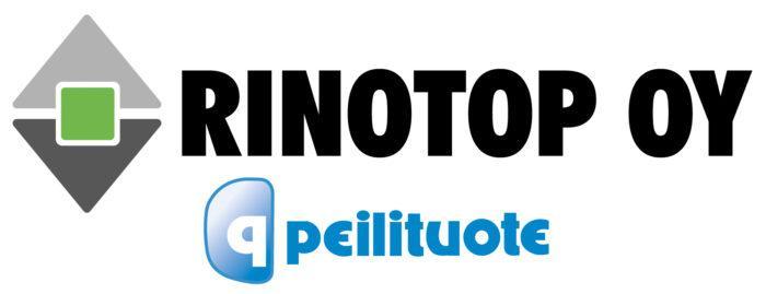 Rinotop Oy:n logo, joka on myös linkki yrityksen ilmastotyötä esittelevälle sivulle.