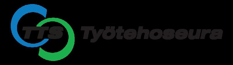 TTS Työtehoseuran logo, joka on myös linkki yrityksen ilmastotyötä esittelevälle sivulle.