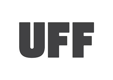 UFF logo, joka on myös linkki yrityksen ilmastotyötä esittelevälle sivulle..