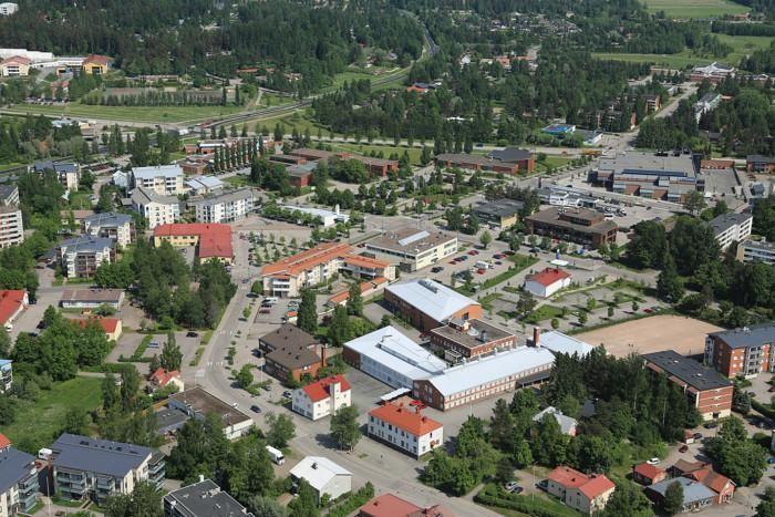 Ilmakuva Nurmijärven kirkonkylästä.