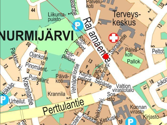 Karttakuva Toreeninkulma II.